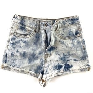 Bullhead Acid Washed Jean Shorts